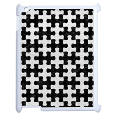 Puzzle1 Black Marble & White Leather Apple Ipad 2 Case (white) by trendistuff