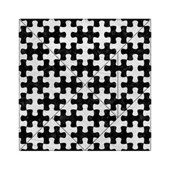 Puzzle1 Black Marble & White Leather Acrylic Tangram Puzzle (6  X 6 ) by trendistuff