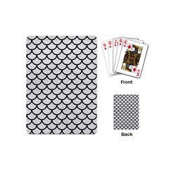 Scales1 Black Marble & White Leather Playing Cards (mini)  by trendistuff