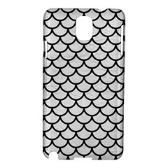 Scales1 Black Marble & White Leather Samsung Galaxy Note 3 N9005 Hardshell Case by trendistuff