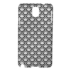 Scales2 Black Marble & White Leather Samsung Galaxy Note 3 N9005 Hardshell Case by trendistuff