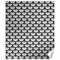Scales3 Black Marble & White Leather Canvas 8  X 10  by trendistuff