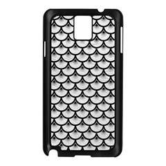 Scales3 Black Marble & White Leather Samsung Galaxy Note 3 N9005 Case (black) by trendistuff