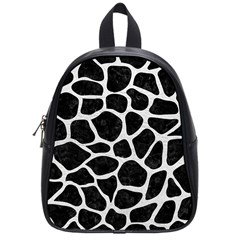 Skin1 Black Marble & White Leather School Bag (small) by trendistuff