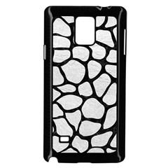 Skin1 Black Marble & White Leather (r) Samsung Galaxy Note 4 Case (black)