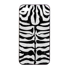 Skin2 Black Marble & White Leather Apple Iphone 4/4s Seamless Case (black) by trendistuff