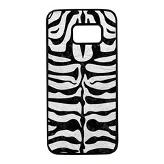 Skin2 Black Marble & White Leather Samsung Galaxy S7 Black Seamless Case by trendistuff