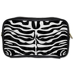 Skin2 Black Marble & White Leather (r) Toiletries Bags 2 Side by trendistuff