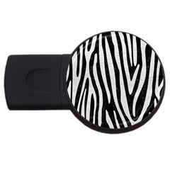 Skin4 Black Marble & White Leather Usb Flash Drive Round (2 Gb) by trendistuff