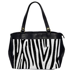Skin4 Black Marble & White Leather (r) Office Handbags (2 Sides)  by trendistuff