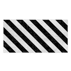 Stripes3 Black Marble & White Leather Satin Shawl by trendistuff