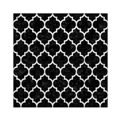 Tile1 Black Marble & White Leather (r) Acrylic Tangram Puzzle (6  X 6 ) by trendistuff