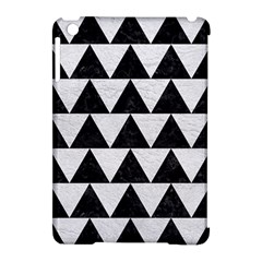 Triangle2 Black Marble & White Leather Apple Ipad Mini Hardshell Case (compatible With Smart Cover) by trendistuff