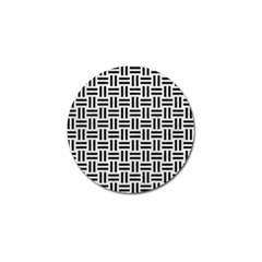 Woven1 Black Marble & White Leather Golf Ball Marker (4 Pack) by trendistuff