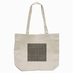 Woven1 Black Marble & White Leather Tote Bag (cream) by trendistuff