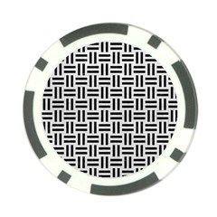 Woven1 Black Marble & White Leather Poker Chip Card Guard by trendistuff