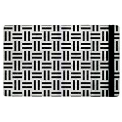 Woven1 Black Marble & White Leather Apple Ipad 3/4 Flip Case by trendistuff