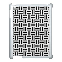 Woven1 Black Marble & White Leather Apple Ipad 3/4 Case (white) by trendistuff