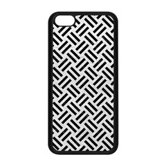 Woven2 Black Marble & White Leather Apple Iphone 5c Seamless Case (black) by trendistuff