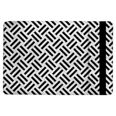Woven2 Black Marble & White Leather Ipad Air Flip by trendistuff