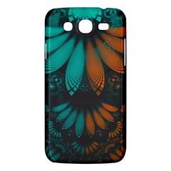 Beautiful Teal And Orange Paisley Fractal Feathers Samsung Galaxy Mega 5 8 I9152 Hardshell Case  by beautifulfractals