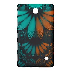 Beautiful Teal And Orange Paisley Fractal Feathers Samsung Galaxy Tab 4 (8 ) Hardshell Case  by beautifulfractals