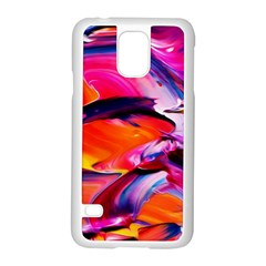 Abstract Acryl Art Samsung Galaxy S5 Case (white) by tarastyle