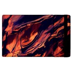 Abstract Acryl Art Apple Ipad 2 Flip Case
