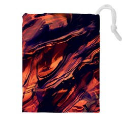Abstract Acryl Art Drawstring Pouches (xxl) by tarastyle