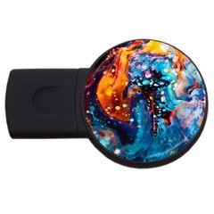 Abstract Acryl Art Usb Flash Drive Round (2 Gb) by tarastyle