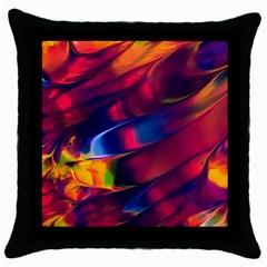 Abstract Acryl Art Throw Pillow Case (black) by tarastyle