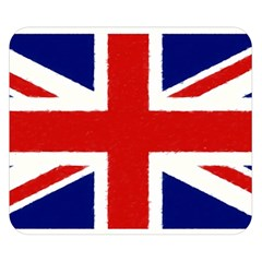 Union Jack Pencil Art Double Sided Flano Blanket (small)  by picsaspassion