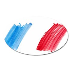 France Flag, Banner Watercolor Painting Art Oval Magnet by picsaspassion