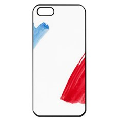 France Flag, Banner Watercolor Painting Art Apple Iphone 5 Seamless Case (black) by picsaspassion