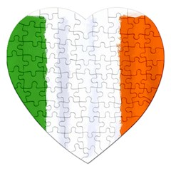 Flag Ireland, Banner Watercolor Painting Art Jigsaw Puzzle (heart) by picsaspassion