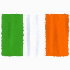 Flag Ireland, Banner Watercolor Painting Art Canvas 20  X 30   by picsaspassion