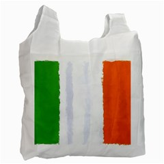 Flag Ireland, Banner Watercolor Painting Art Recycle Bag (one Side) by picsaspassion