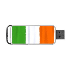 Flag Ireland, Banner Watercolor Painting Art Portable Usb Flash (one Side) by picsaspassion
