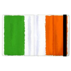 Flag Ireland, Banner Watercolor Painting Art Apple Ipad 2 Flip Case by picsaspassion