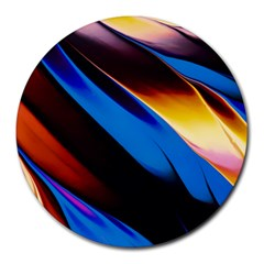 Abstract Acryl Art Round Mousepads by tarastyle