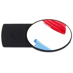 Tricolor Banner Watercolor Painting Art Usb Flash Drive Oval (2 Gb)