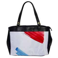 Tricolor Banner Watercolor Painting Art Office Handbags by picsaspassion