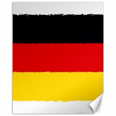 German Flag, Banner Deutschland, Watercolor Painting Art Canvas 11  X 14   by picsaspassion