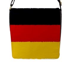 German Flag, Banner Deutschland, Watercolor Painting Art Flap Messenger Bag (l)  by picsaspassion