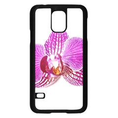 Lilac Phalaenopsis Aquarel  Watercolor Art Painting Samsung Galaxy S5 Case (black) by picsaspassion