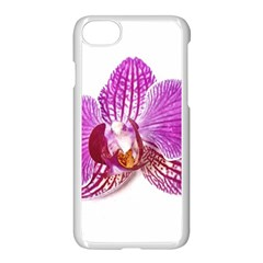 Lilac Phalaenopsis Aquarel  Watercolor Art Painting Apple Iphone 7 Seamless Case (white) by picsaspassion