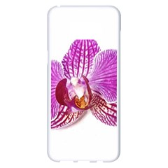 Lilac Phalaenopsis Aquarel  Watercolor Art Painting Samsung Galaxy S8 Plus White Seamless Case by picsaspassion