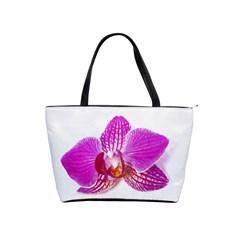 Lilac Phalaenopsis Flower, Floral Oil Painting Art Shoulder Handbags by picsaspassion