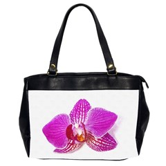 Lilac Phalaenopsis Flower, Floral Oil Painting Art Office Handbags (2 Sides)  by picsaspassion