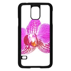 Lilac Phalaenopsis Flower, Floral Oil Painting Art Samsung Galaxy S5 Case (black) by picsaspassion
